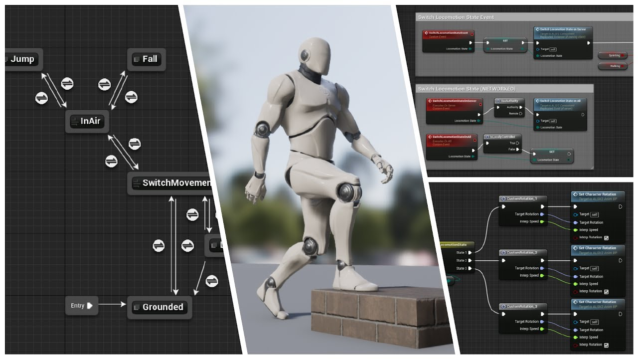 Free Advanced Locomotion System for UE4