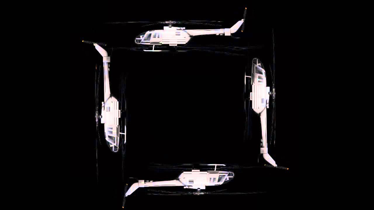 Helicopter flying | HOLHO 3D Hologram Template 4faces pyramid