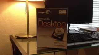 Unboxing Seagate Barracuda 500GB Desktop Hard Drive