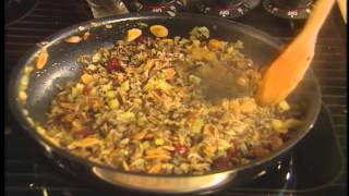 Rock Cornish Game Hens with Fruit Nut Stuffing