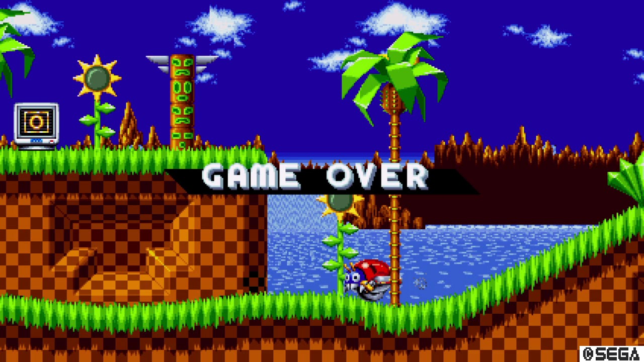 Sonic Mania Game Over Youtube