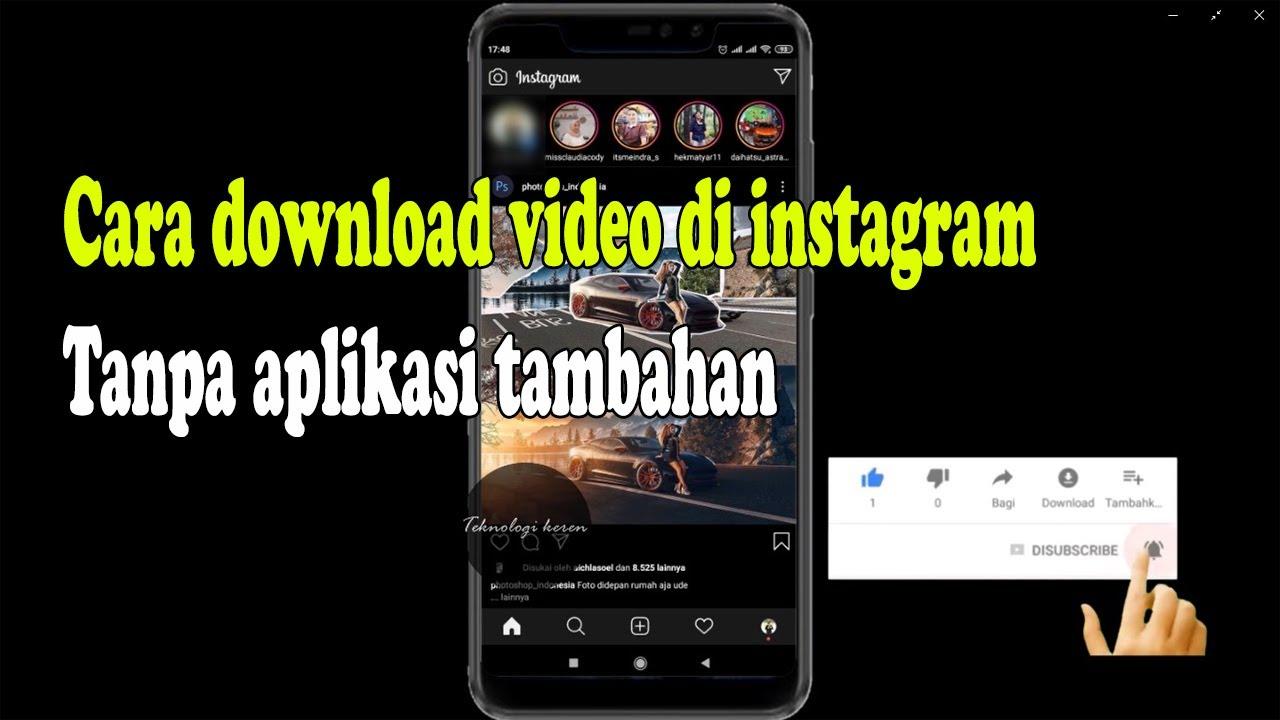 #instagram #downloadvideoinstagram Cara Download video di ...