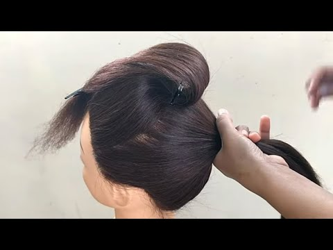 Beautiful Hairstyle For Function || Hairstyle For Women || Hairstyle On Saree thumbnail