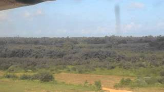 Landing at Palali military airport, Jaffna, Sri Lanka