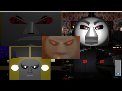 Five Nights At Smudger's 4: Engines At War: All Jumpscares