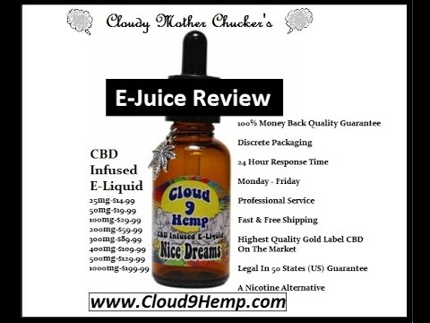 *E-Juice Review* Cloud 9 Hemp - Nice Dreams(CBD Infused E-Liquid)