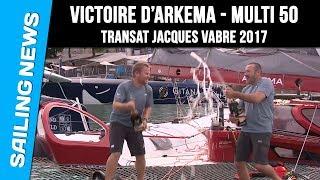 Victoire d'Arkema - Multi 50 - Transat Jacques Vabre 2017