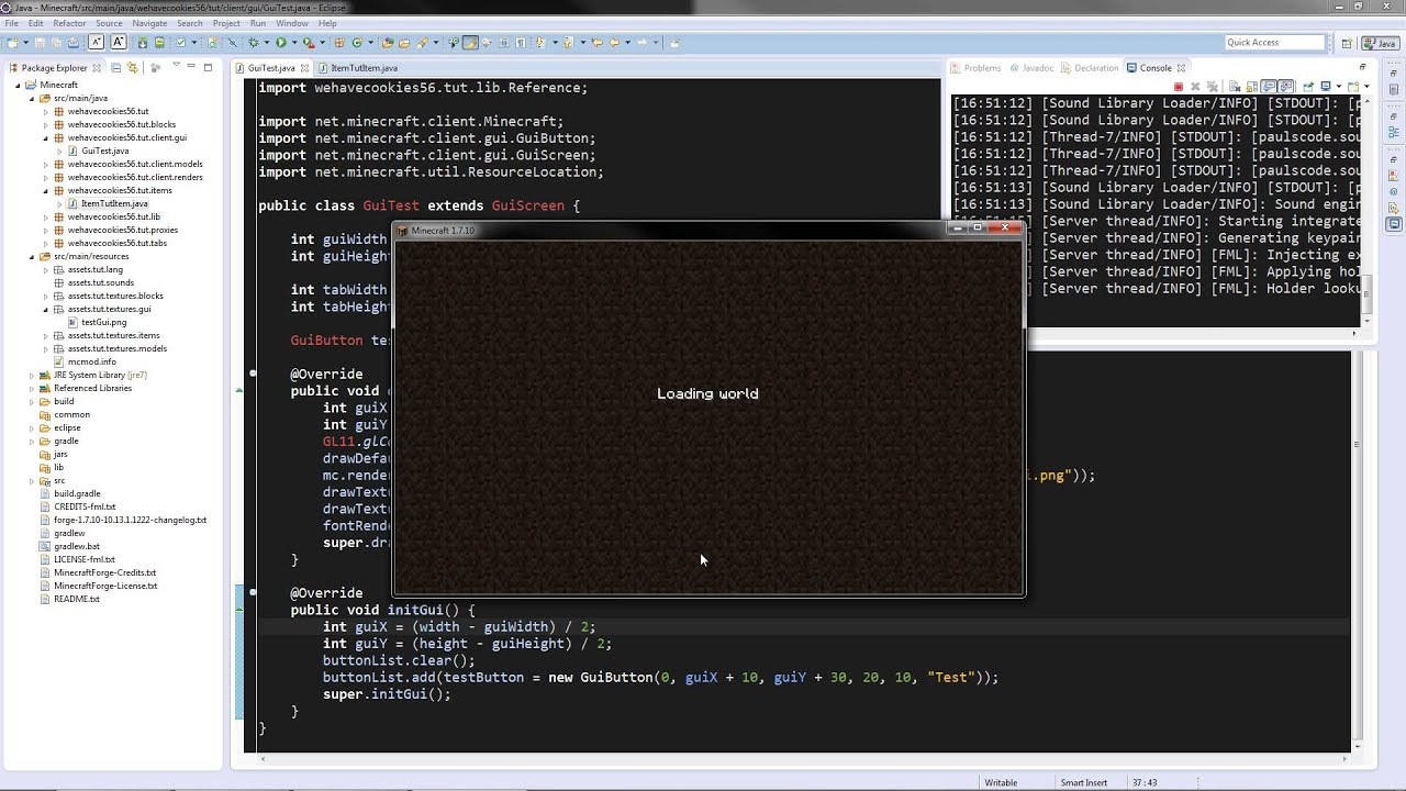 Minecraft Forge Modding Tutorials Episode Basic GUIs - Minecraft server erstellen mit mods 1 7 10