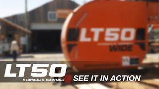 Wood-Mizer LT50 Heavy-Duty Portable Sawmill in Action