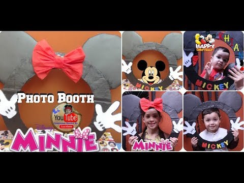 PhotoBooth De Mickey Y Minnie/  D.I.Y. Cabina De Fotos MICKEY MOUSE