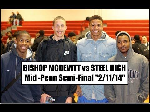 "Bishop McDevitt vs Steel High ""Mid-Penn Semi-Final"" (2/11/14) ""Anthony Wright 1,000th point"""