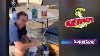 Demonstration of Refrigeration Technologies Viper coil cleaner range with Jon Mitchell of SuperCool