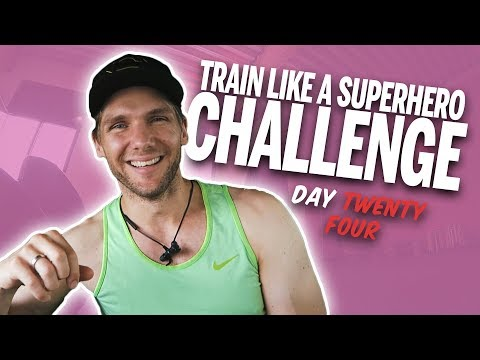 [Day 24] - TRAIN LIKE A SUPERHERO CHALLENGE... TALKING HONESTLY ABOUT MY MOTIVATION - 동영상