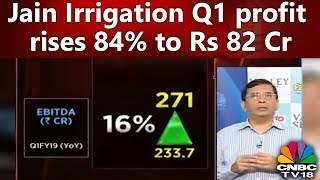 Jain Irrigation Q1 Profit Rises 84% to Rs 82 Cr | #1QWithCNBCTV18