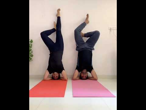 headstand or shirshasana acroyoga/partner yoga/indian