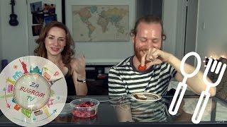 Иностранцы пробуют русскую еду. Часть 1. Julietta LA и VenyaPak. ZaBugromTV