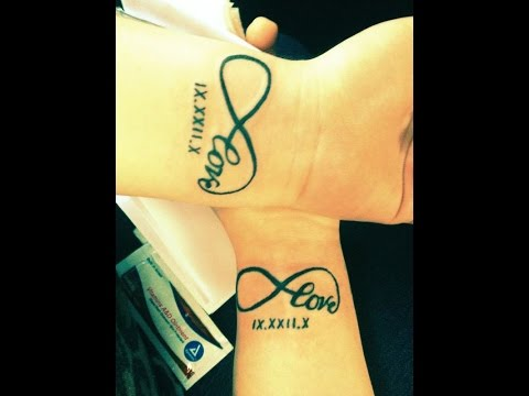 609e1ca01 couple tattoos infinity - YouTube