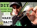 Wakebait DIY- Turning Strike King KVD 2.5 crankbait  into Wakebait with Heat gun