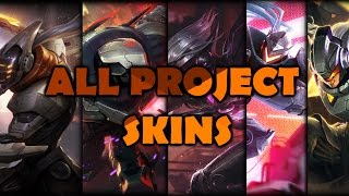 ALL NEW PROJECT SKINS - Yi Zed Fiora Leona Lucian - League of Legends Gameplay