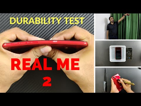 RealMe 2 Durability (SCRATCH BEND DROP WATER) Test & Unboxing ! More Durable Than POCO F1 ?
