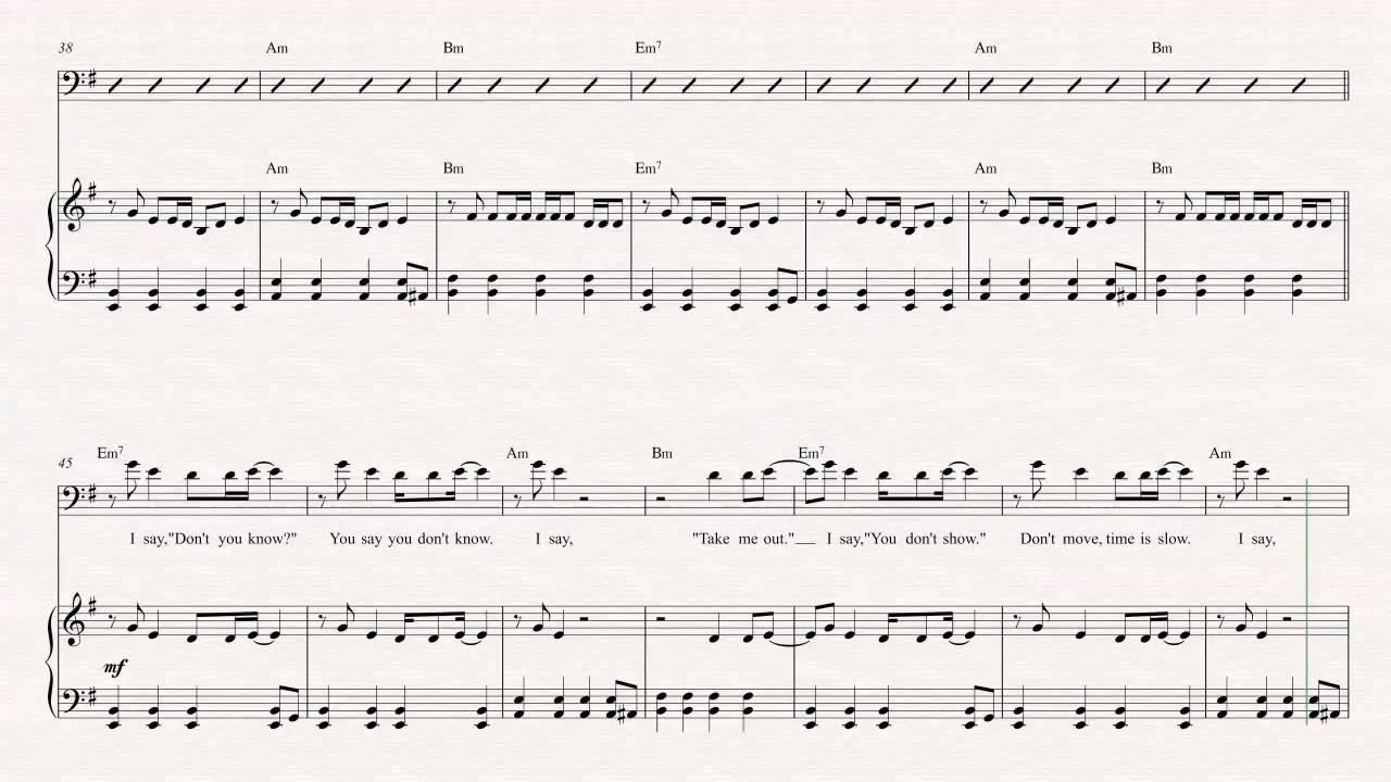 Euphonium take me out franz ferdinand sheet music chords euphonium take me out franz ferdinand sheet music chords vocals youtube hexwebz Choice Image