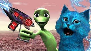 - НОВЫЙ СИМУЛЯТОР ЗЕЛЁНОГО ТАНЦУЮЩЕГО ИНОПЛАНЕТЯНИНА GREEN SCARY ALIENS Dame cosita Alien Dance