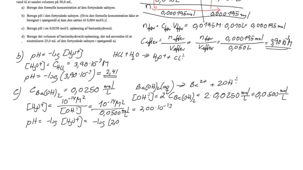 prøveeksamen kemi c opgave 6