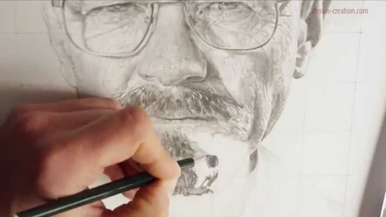 Tuto Comment Dessiner Un Visage Realiste Portrait De Walter