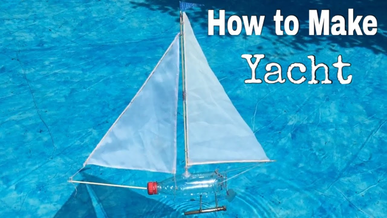 How to Make a Yacht Out of Plastic Bottle - Simple Toy Boat - YouTube