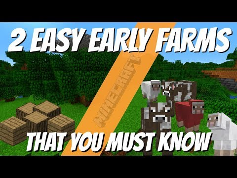 Minecraft My Favourite Early Game Farms You Need by Avomance Minecraft Farm Tutorials
