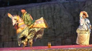 Danse folklorique indienne à Mamallapuram
