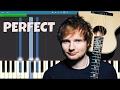 Download Ed Sheeran - Perfect - Piano Tutorial MP3 song and Music Video