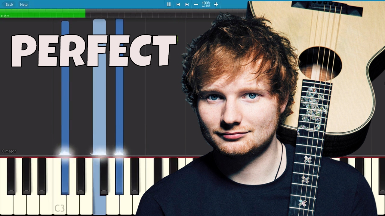 ed sheeran perfect piano tutorial youtube. Black Bedroom Furniture Sets. Home Design Ideas