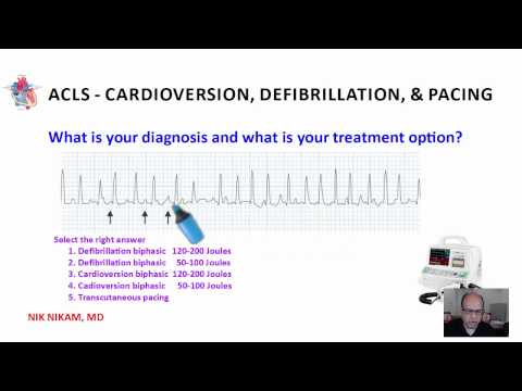 ACLS CARDIOVERSION, DEFIBRILLATION AND PACING NIK NIKAM MD