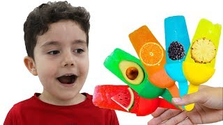 Yusuf Meyveli Dondurma Yaptı | Kid makes fruit Ice Cream