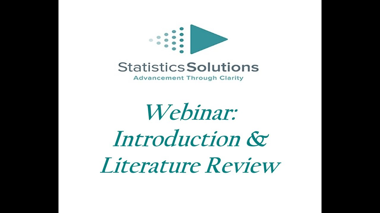 Introduction for a literature review