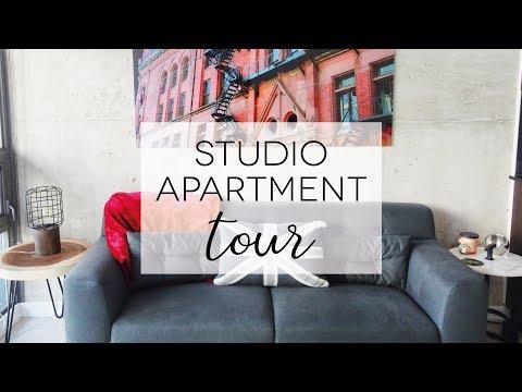 TORONTO STUDIO APARTMENT TOUR | Moving Day Vlog & Skyscraper life [ENG SUBS]