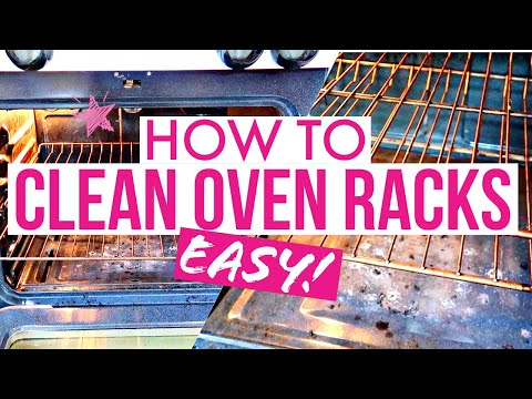 HOW TO CLEAN OVEN RACKS! (Super Easy Way!!)/Cleaning Motivation