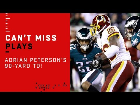 Adrian Peterson BLASTS OFF for a 90-Yard TD!!!