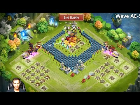 Free 2 Play Account Taking On HBM AE5 Showing Set Up Used Castle Clash