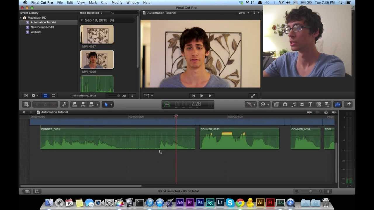 Automate Audio in Final Cut Pro X (The Pen Tool)