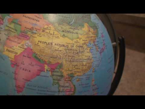 Looking at the Countries of the World on my Globe