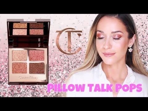 charlotte tilbury pillow talk palette of pops first impression tutorial