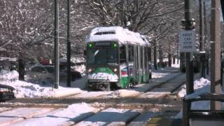 MBTA - Streetcars in the Snow