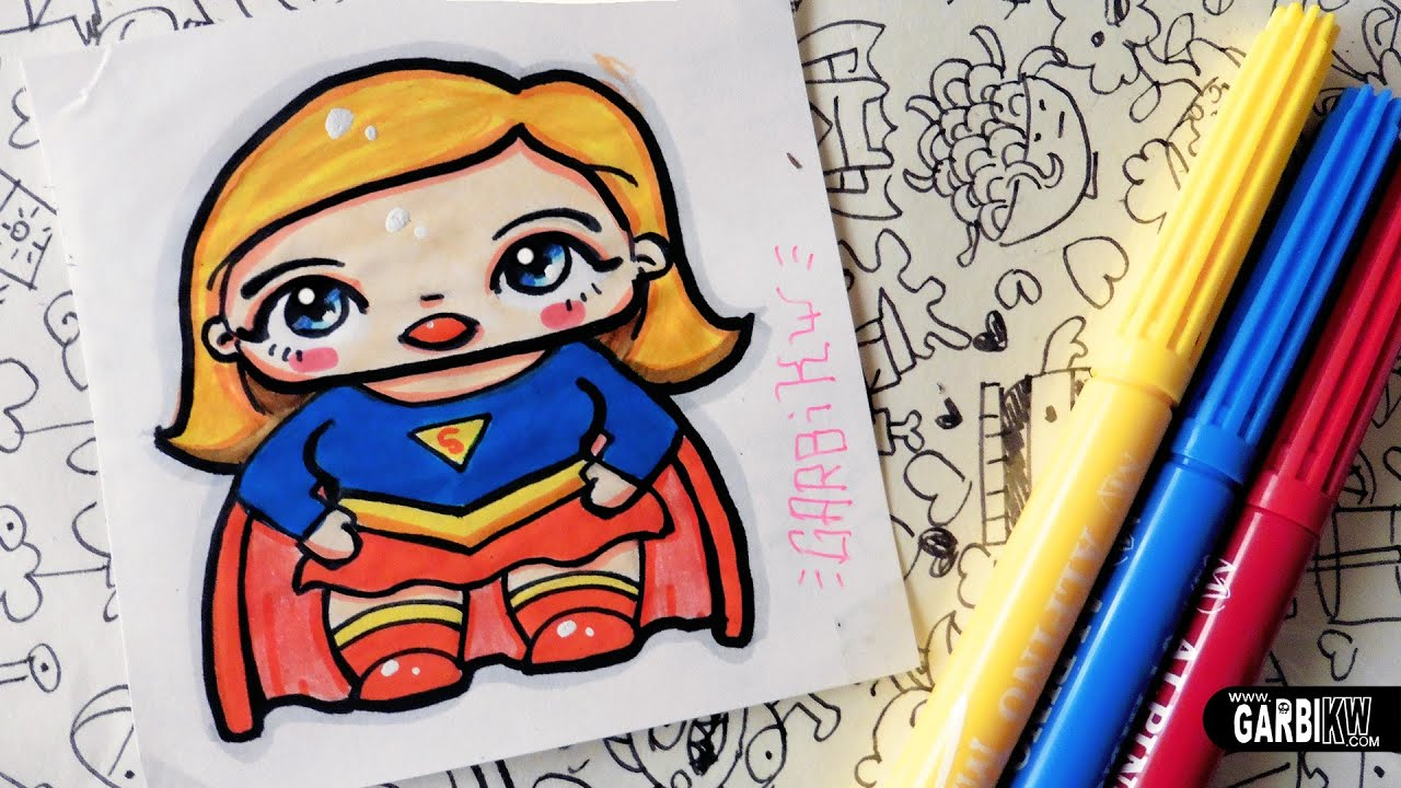 SuperGirl - How To Draw Chibi and Kawaii Characters by ...