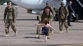 Best Welcome Homecoming Soldier Surprise Home Compilation 5