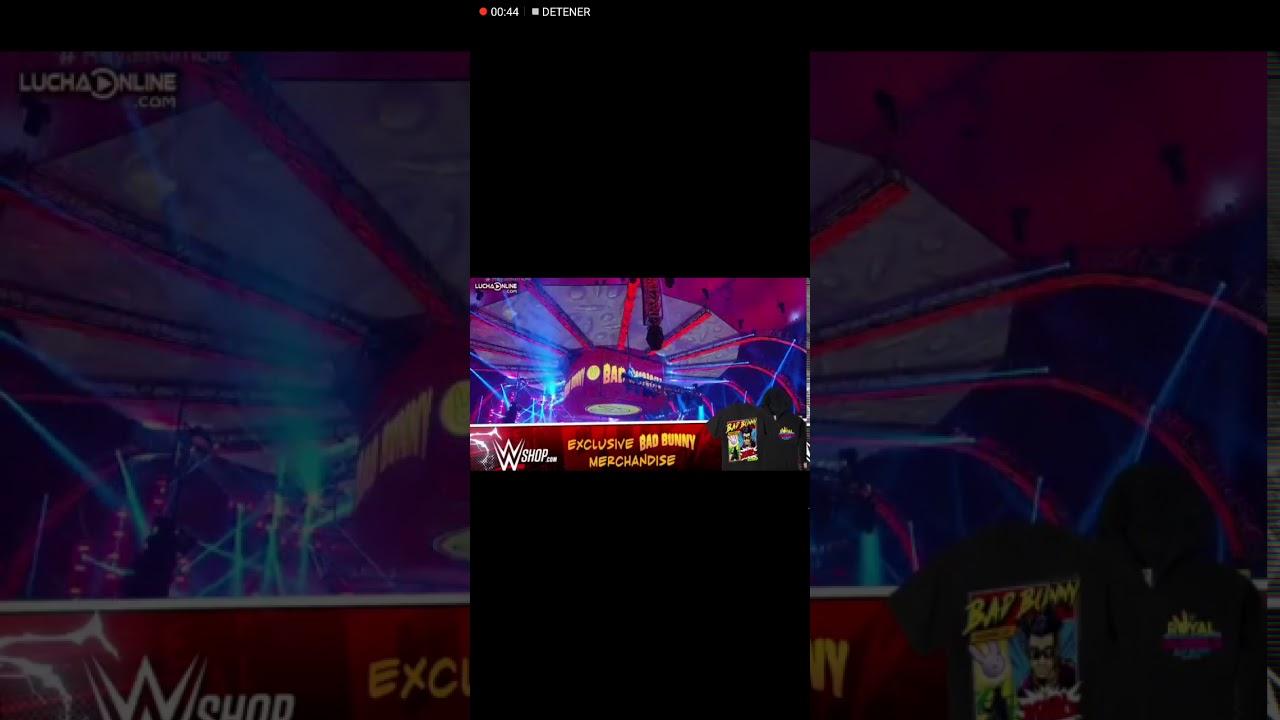 Bad bunny presentación en Royal Rumble 2021 - YouTube