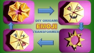 DIY ORIGAMI EMOJI TRANSFORMER ; EINFACH GESCHENKIDEEN; EMOJI GIFT IDEAS QUICK AND EASY