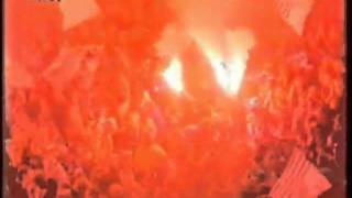 1993, Rot-Weiss Essen Pyro-Show | Old school ultras