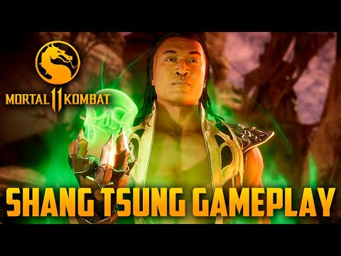 Mortal Kombat 11 - Gameplay exclusiva do Shang Tsung, mostrando tudo possível do novo DLC